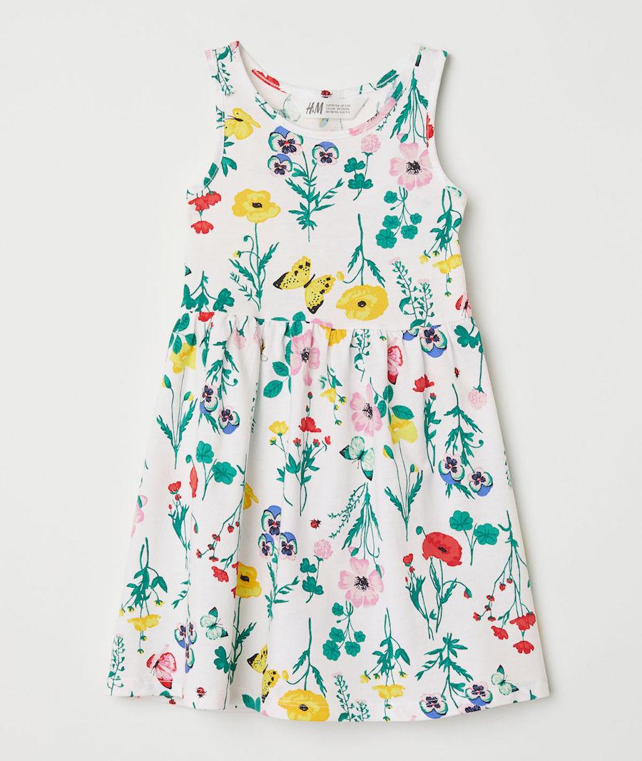 Versatile Spring dresses for kids: Floral dress from H&M