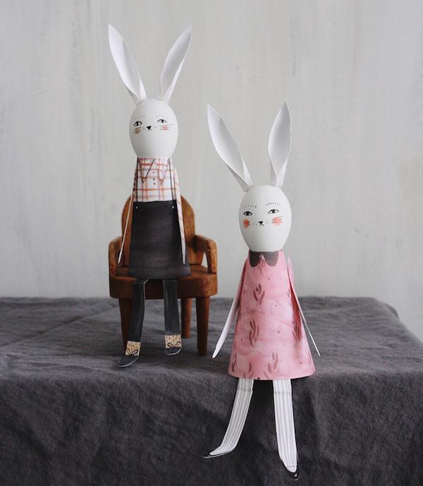 Easter egg printables: Bunny printables by Merrilee Liddiard