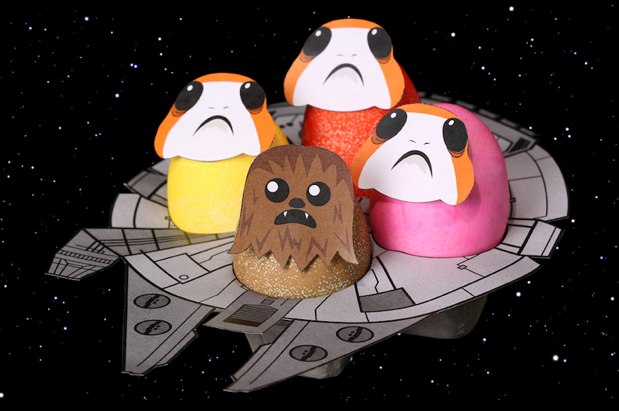 6 printables that make Easter egg decorating more fun, from Porgs to superheroes to the cutest bunnies ever.
