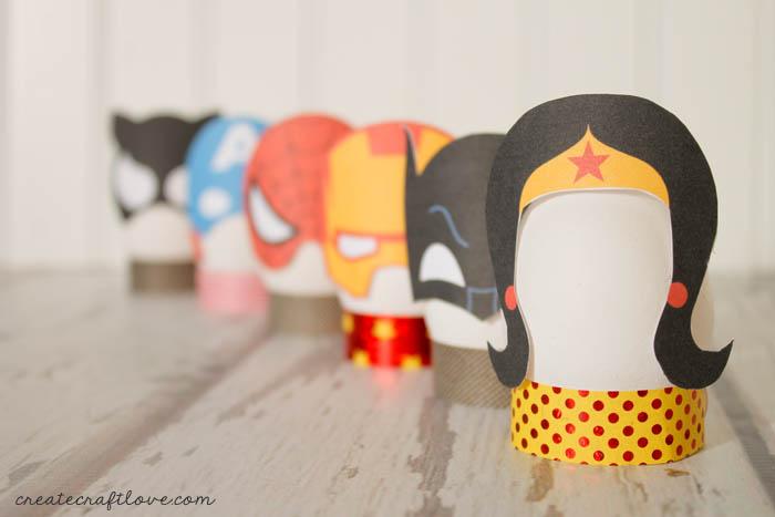 Easter egg printables: Superhero egg printables by Create Craft Love