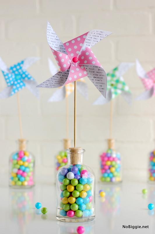 Free Easter printables: Paper pinwheel printables by No Biggie
