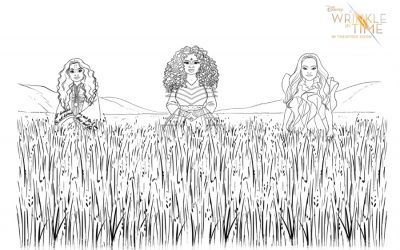 Free A Wrinkle In Time coloring pages + activity sheets let kids make their own magic.