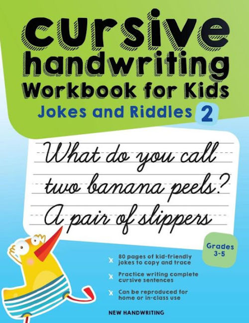 Handwriting help for kids: Cursive joke book