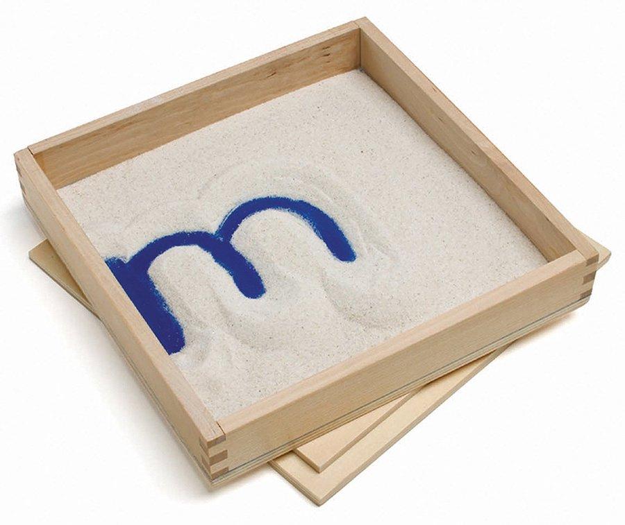 Handwriting help for kids: Sand writing box