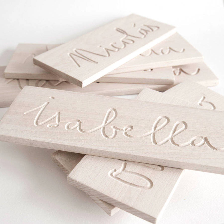 Handwriting help for kids: Handmade custom tracing board, by ALETAkids