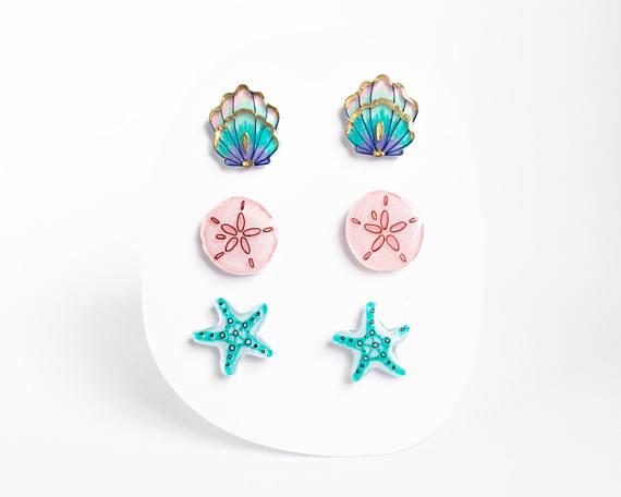 Mermaid gifts: Mermaid earrings   Poptone