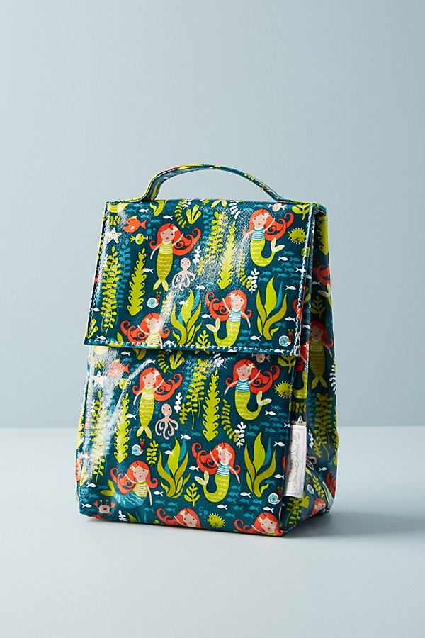 Mermaid gifts: Mermaid insulated lunch bag | Anthropologie