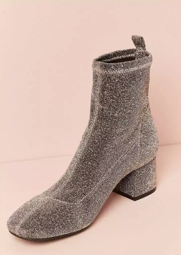 Spring fashion trends: Metallic glitter ankle booties at Forever 21 for under $20! | Cool Mom Picks