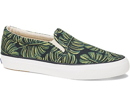 Rifle Paper Co x Keds palm print slip-on sneakers for spring and summer