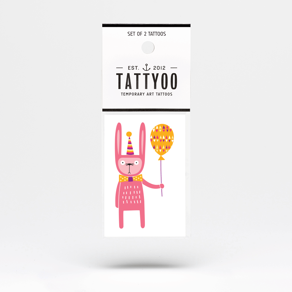 Non-candy Easter basket ideas: Party bunny temporary tattoo