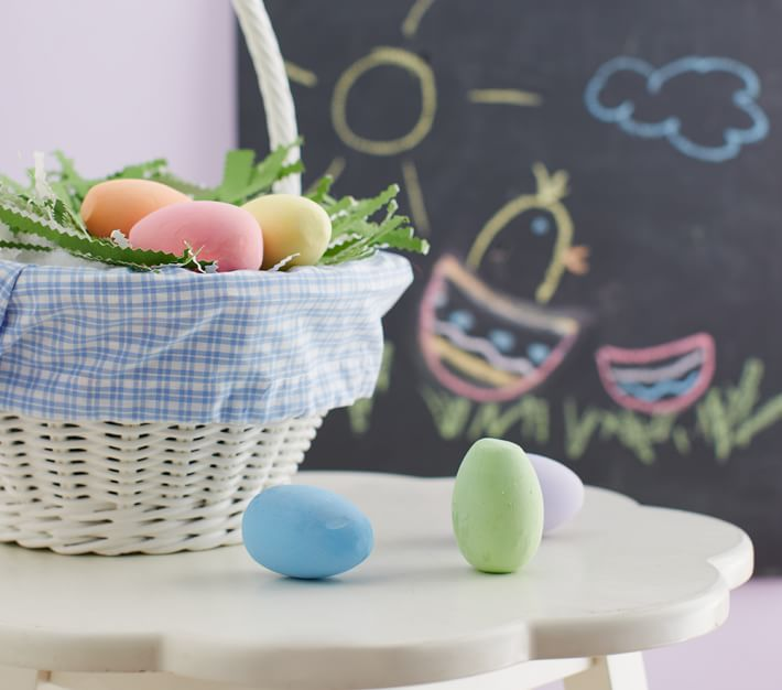 Non-candy Easter basket ideas: pastel egg chalk set at PBK