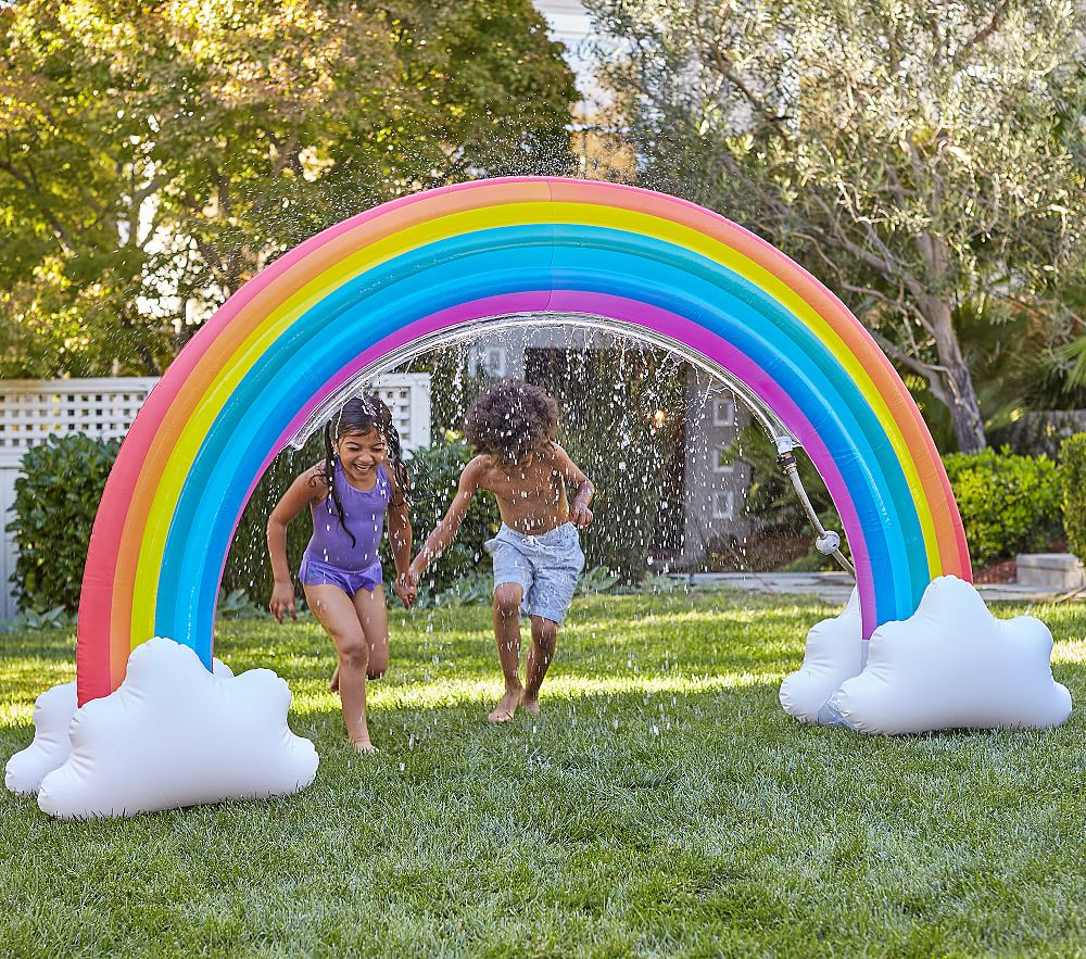 Giant inflatable sprinklers: Rainbow giant inflatable sprinkler | Pottery Barn Kids