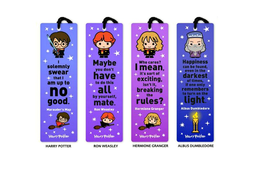 These Harry Potter bookmarks make reading more magical.