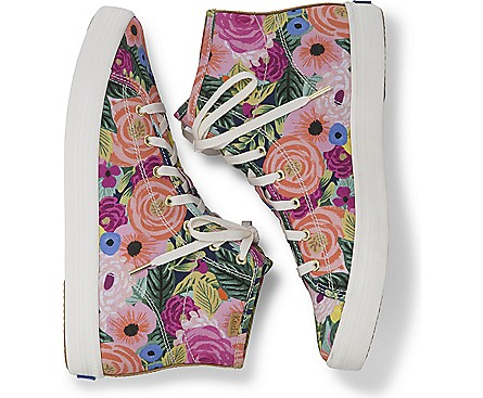 Rifle paper Juliet Floral high top Keds for spring