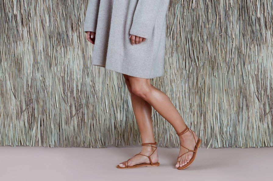 TKEEs suede Jo Austen sandals now in a gorgeous caramel suede