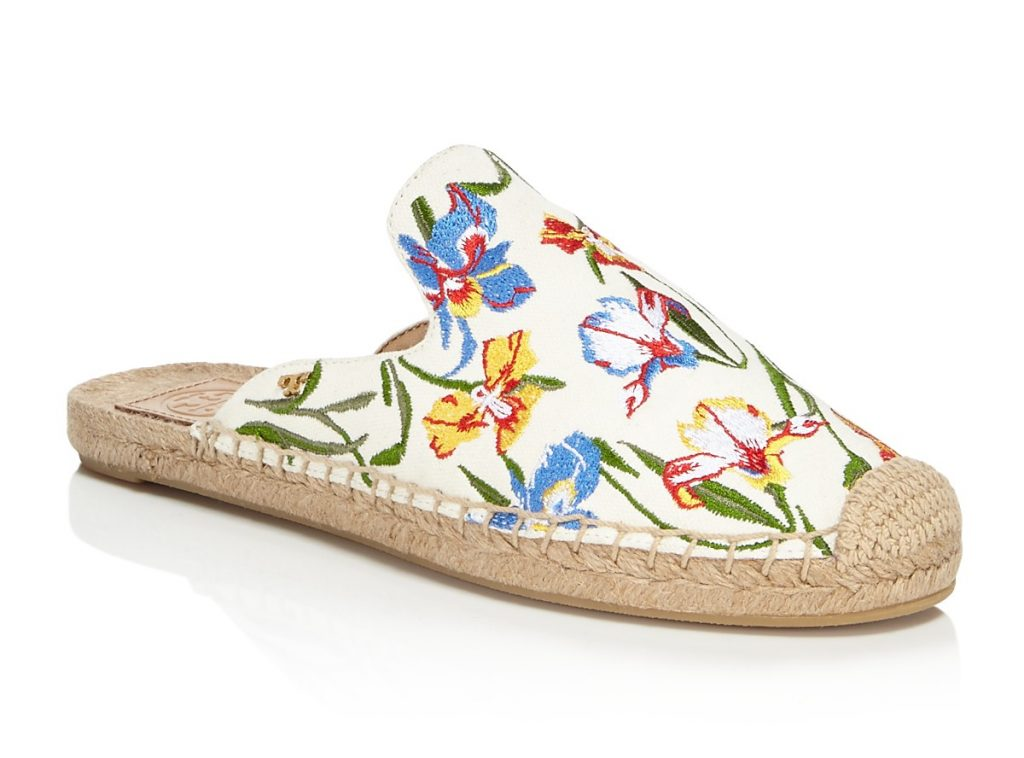 Spring fashion trends: Tory Burch floral print espadrilles | Cool Mom Picks