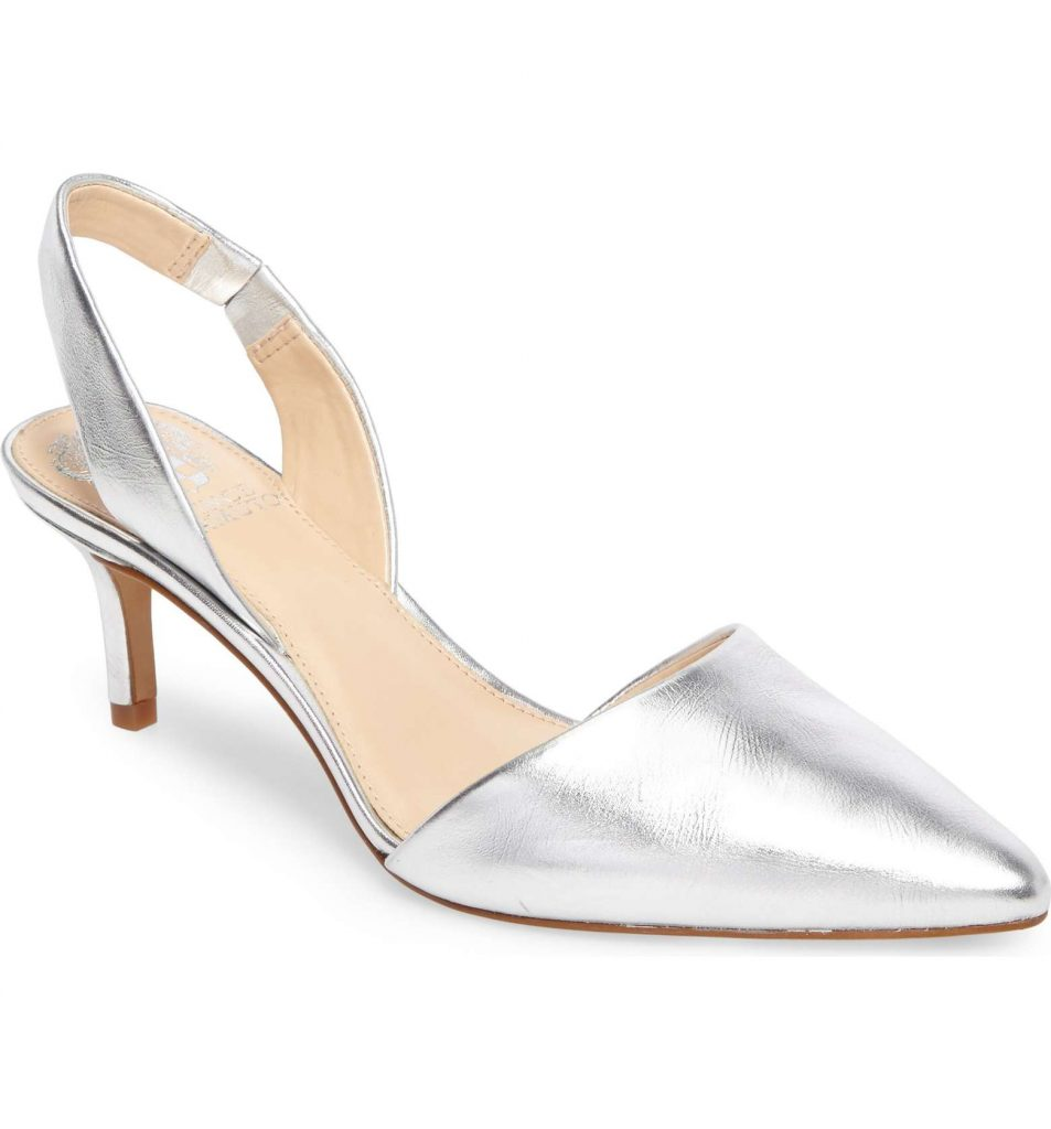 Spring fashion trend: Kitten heels and pointy toes. These shoes: Vince Camuto | Cool Mom Picks