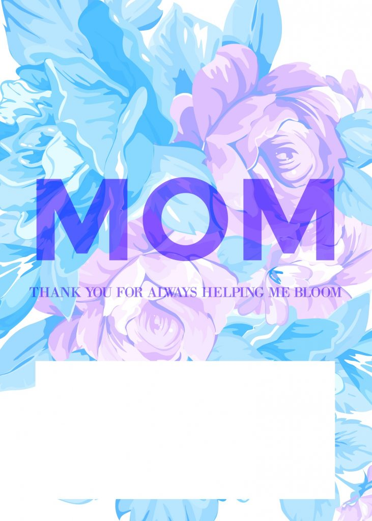 Free Mother's Day card printable:Thanks for helping me bloom | Cool Mom Picks