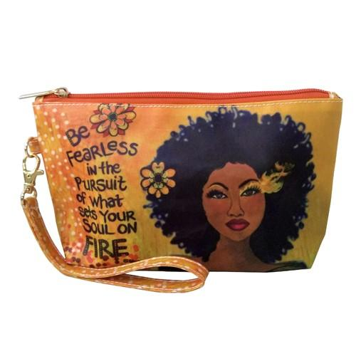 Be Fearless cosmetic pouch from Its a Black Thang | Cool affordable Mother's Day gifts under $15