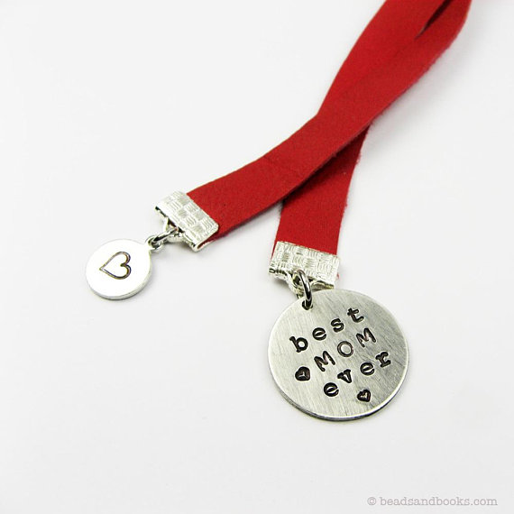 Handstamped best mom ever bookmark | Cool affordable Mother's Day gifts under $15