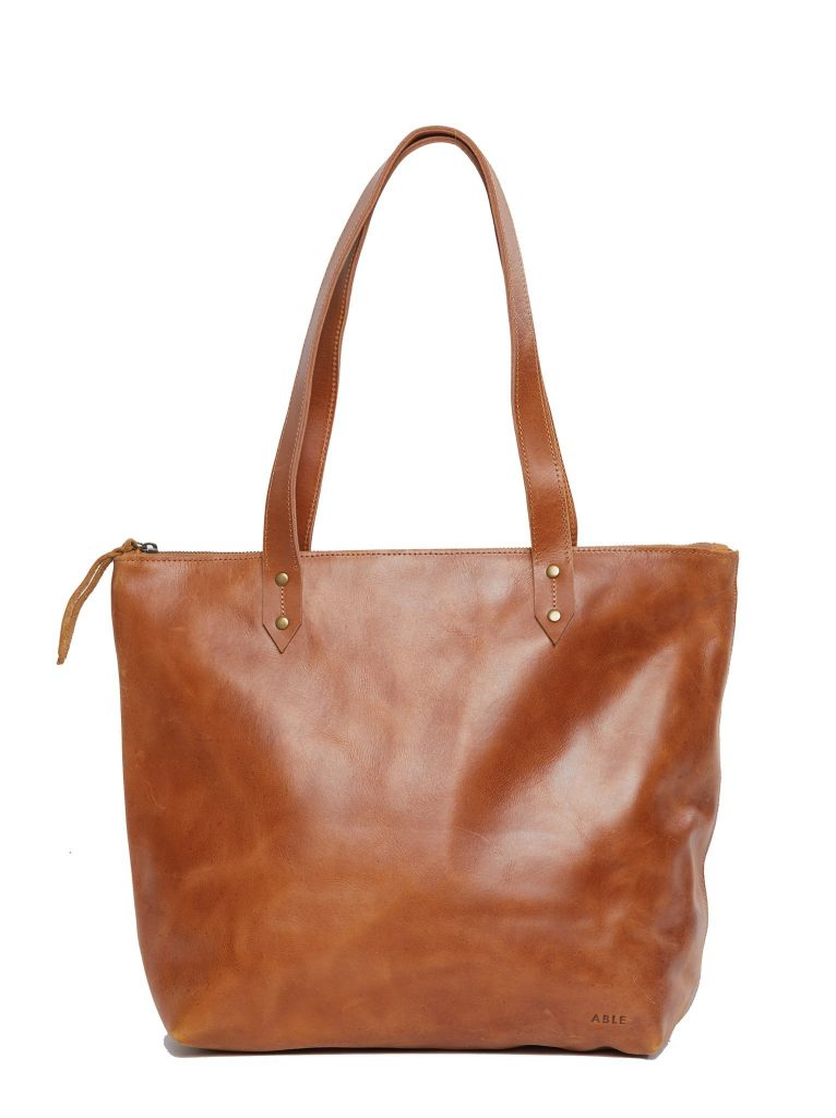 Mother's Day gift ideas for stepmother, mother-in-law: New leather totes with zipper from FashionABLE