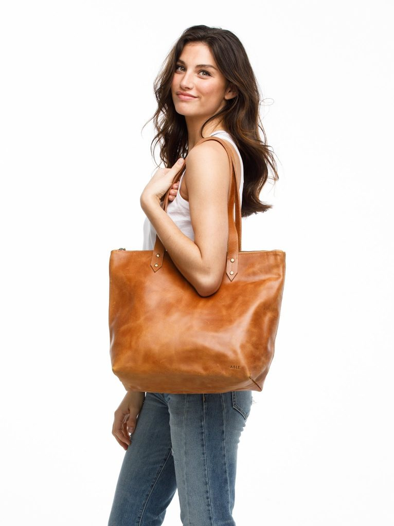 New zip-top leather bag from fashionABLE: Stepmother or mother-in-law gift ideas for Mother's Day