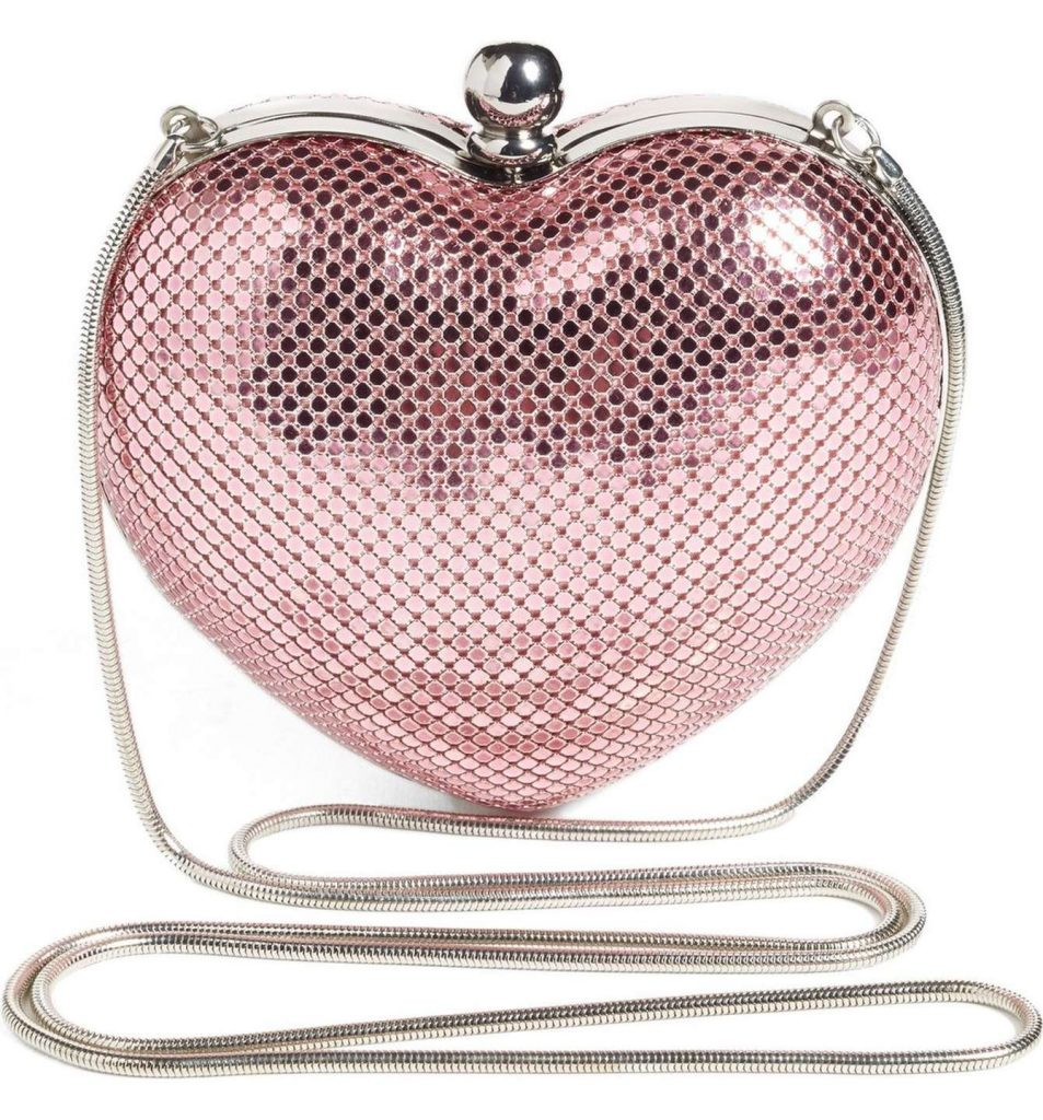 Charity Heart Clutch from Whiting & Davis that supports breast cancer research | Mother's Day gifts that give back | Cool Mom Picks