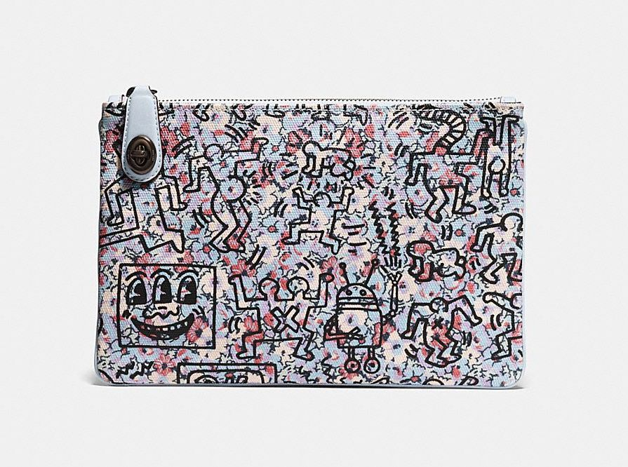 Coach X Keith Haring wristlet in leather at an amazing price! Fits an iPad Mini, too