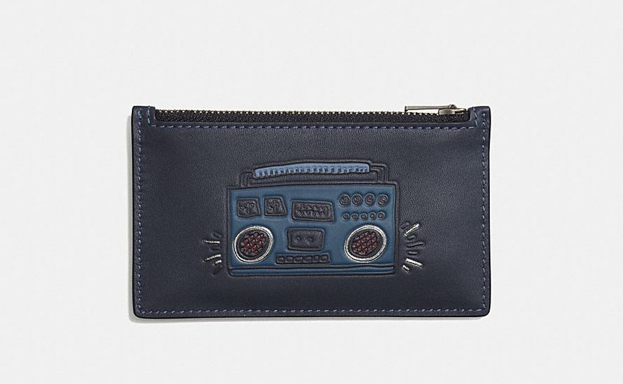 Coach X Keith Haring Boombox Leather Card Case