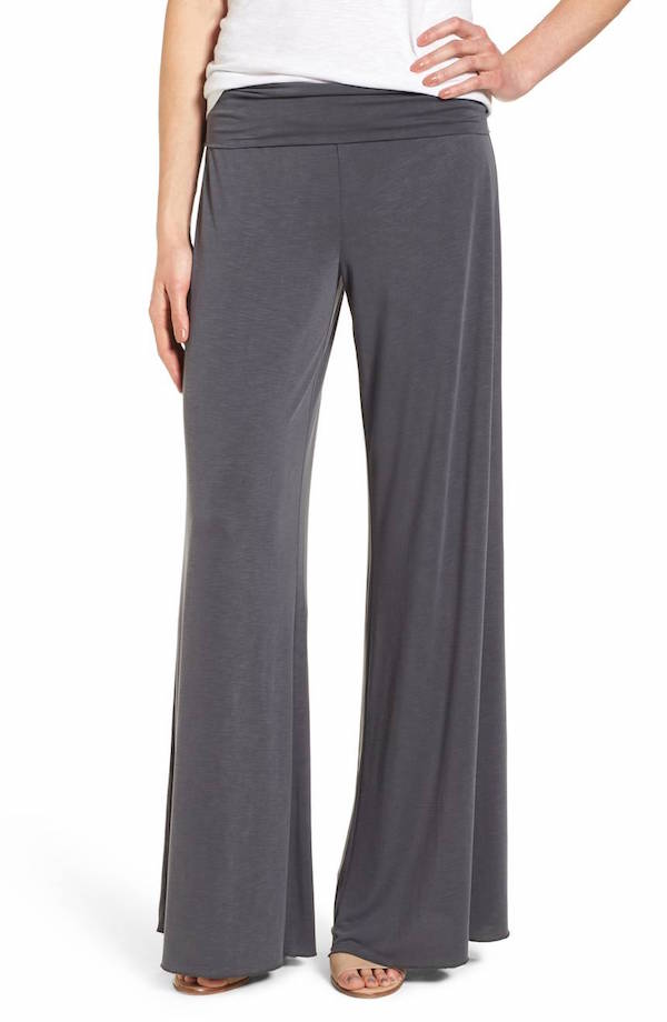 Comfortable work pants: NIC+ZOE wide-legged pants at Nordstrom look office but feel lounge.