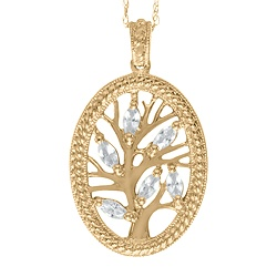 Custom birthstone family tree pendant | affordable Mother's Day gifts