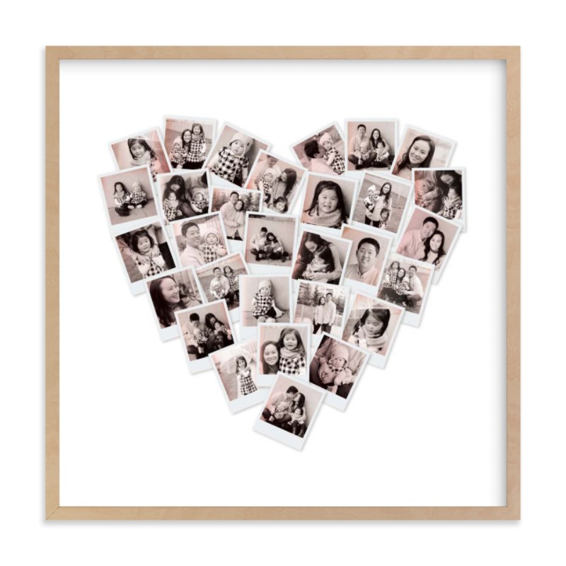 Mother's Day gifts for Grandma: Custom photo heart art from Minted, now tinted with a lovely blush tone