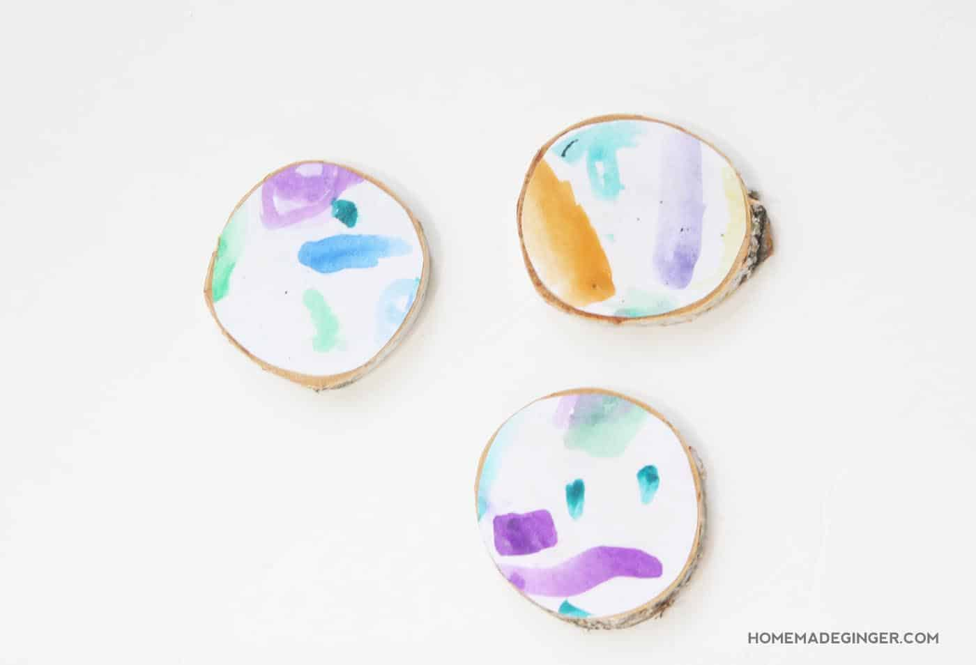 DIY Mother's Day gifts that kids can make: Kid's Art Coaster by Homemade Ginger at Mod Podge Rocks