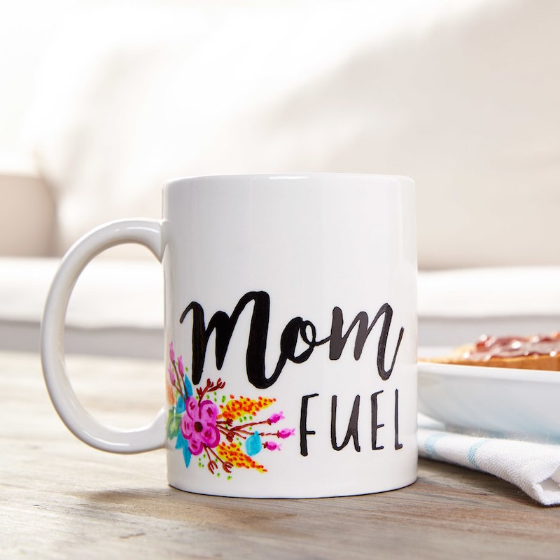 DIY Mother's Day gifts that kids can make: Mom Fuel Mug tutorial at Michael's