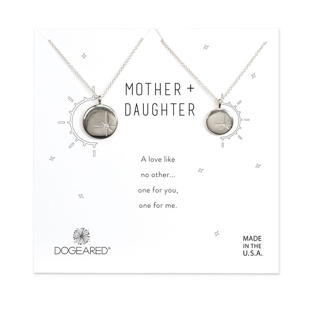 Mother-daughter necklace sets: Sparkle star disc mother-daughter necklaces | Dogeared
