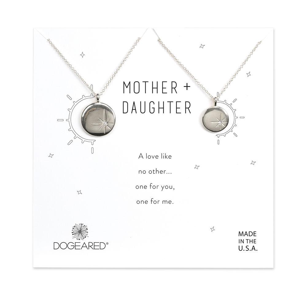 Mother-daughter necklace sets: Sparkle star disc mother-daughter necklaces| Dogeared