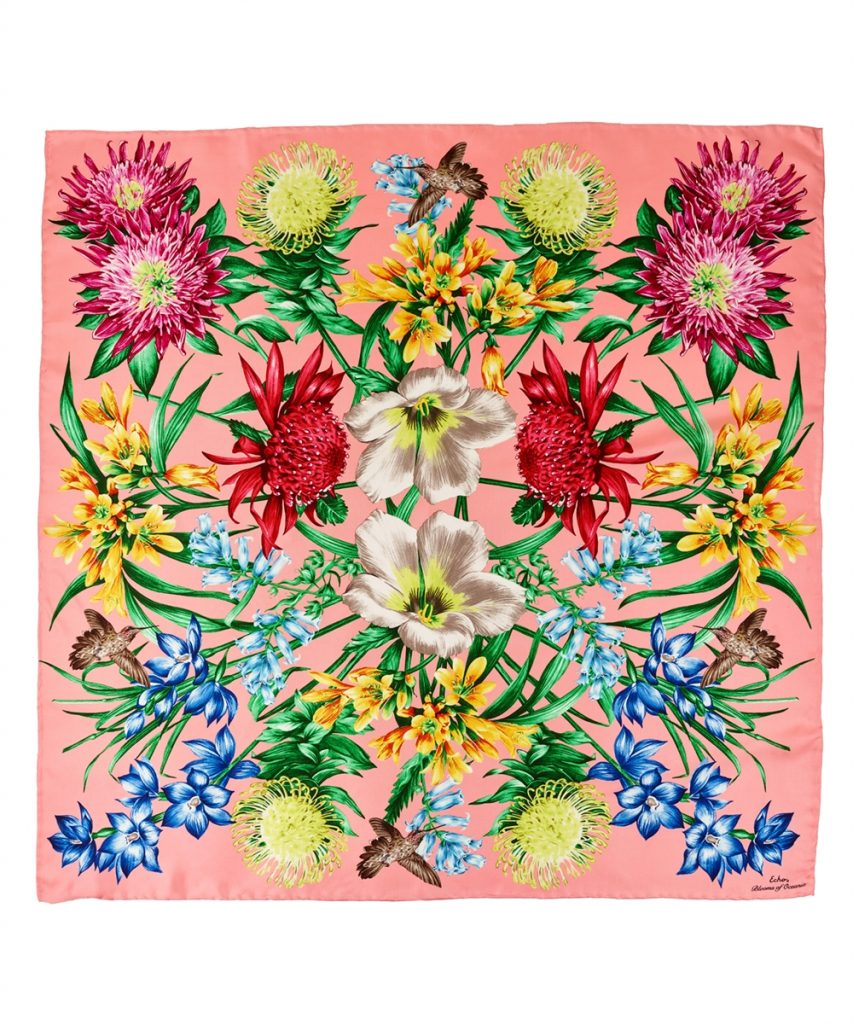 Mother's Day gifts for Grandma: Gorgeous silk floral scarf from Echo Design