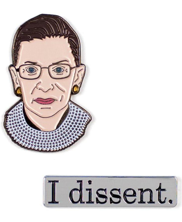 I Dissent RGB enamel pin set | Cool affordable Mother's Day gifts under $15