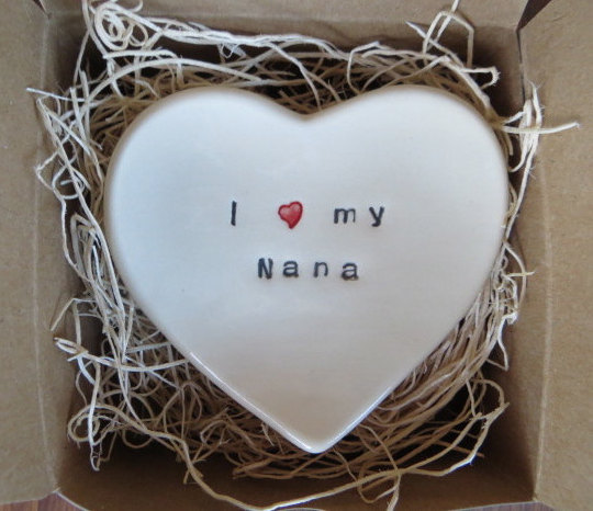 I Love My Nana Ring Dish handmade by Momology on Etsy | Mother's Day gift for grandmothers