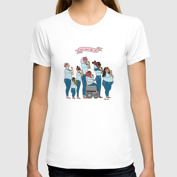 Intersectional Rosie the Riveter tees from Tyler Feder - great mom/daughter set for Mothers Day?