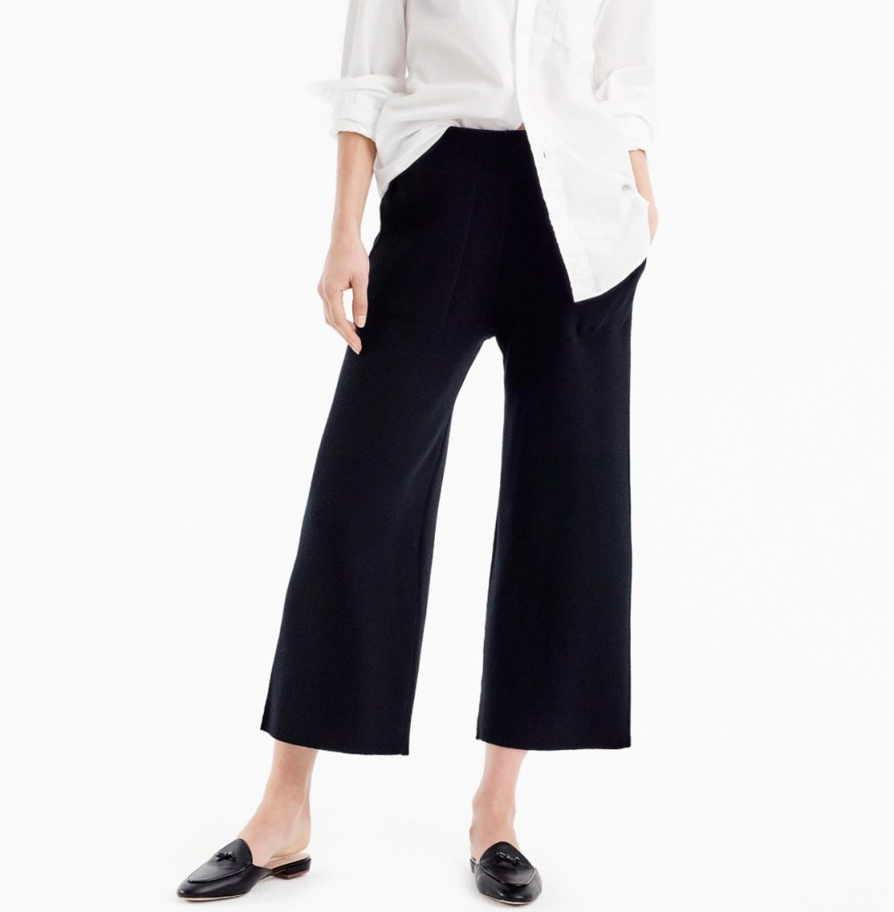 J Crew elastic waist stretch pants are a comfy but stylized alternative to yoga pants