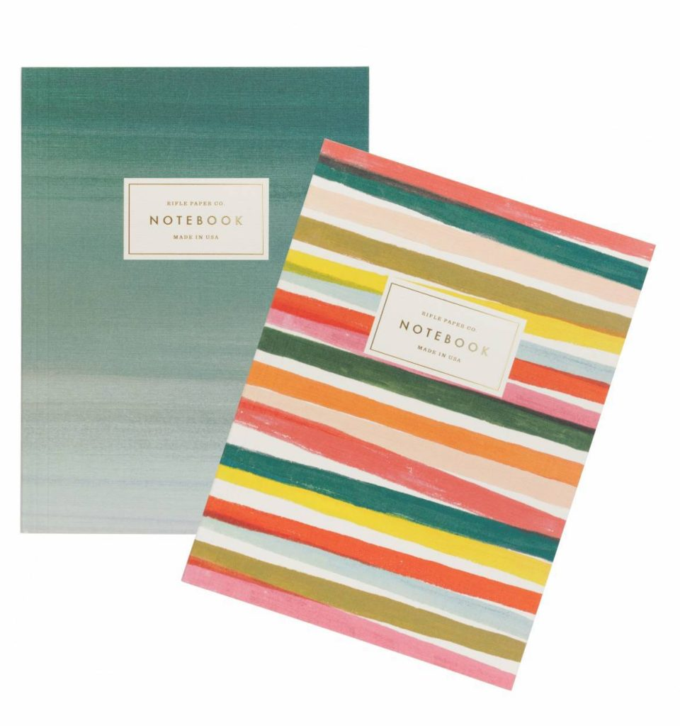 Joy de Vivre Notebook Set from Rifle Paper   Cool affordable Mother's Day gifts under $15