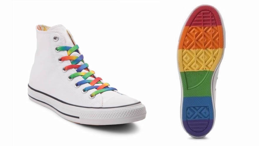 Kids' rainbow clothing: Converse Chuck Taylor All Star Hi Pride Sneaker