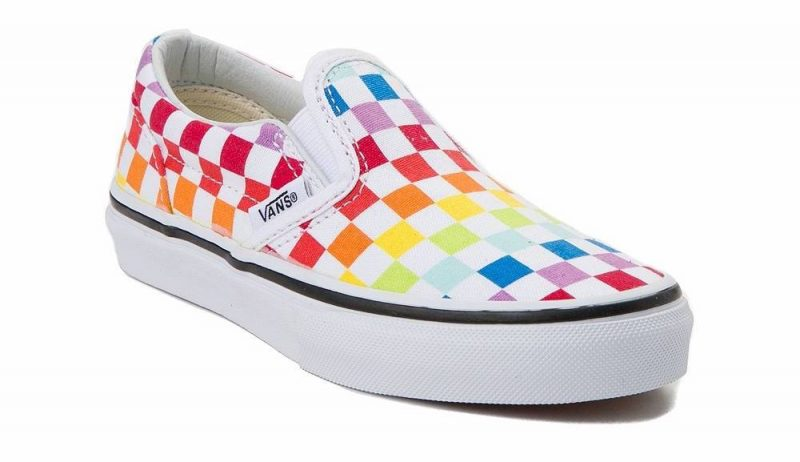 Kids' rainbow clothing: Rainbow Chex Vans