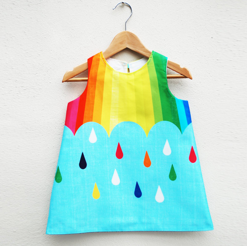 Kids' rainbow dress by Wild Things Dresses