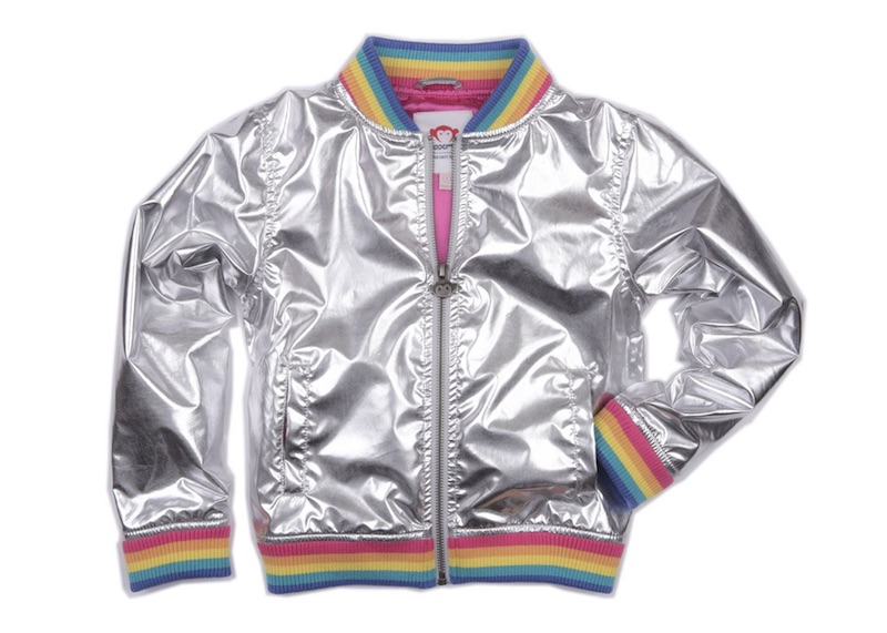 Kids' rainbow bomber jacket by Appaman