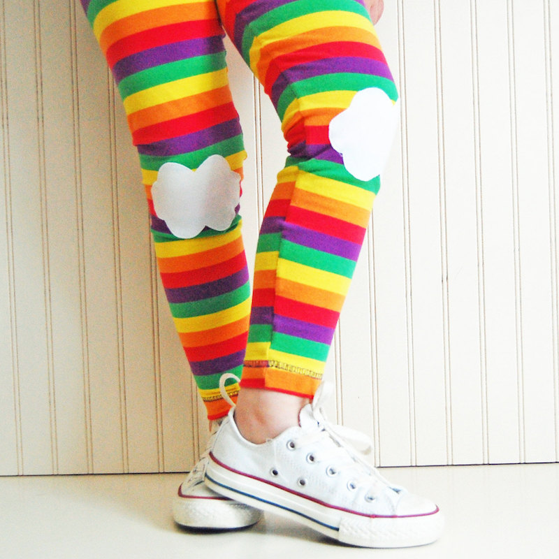 Kids' rainbow leggings by The Trendy Tot