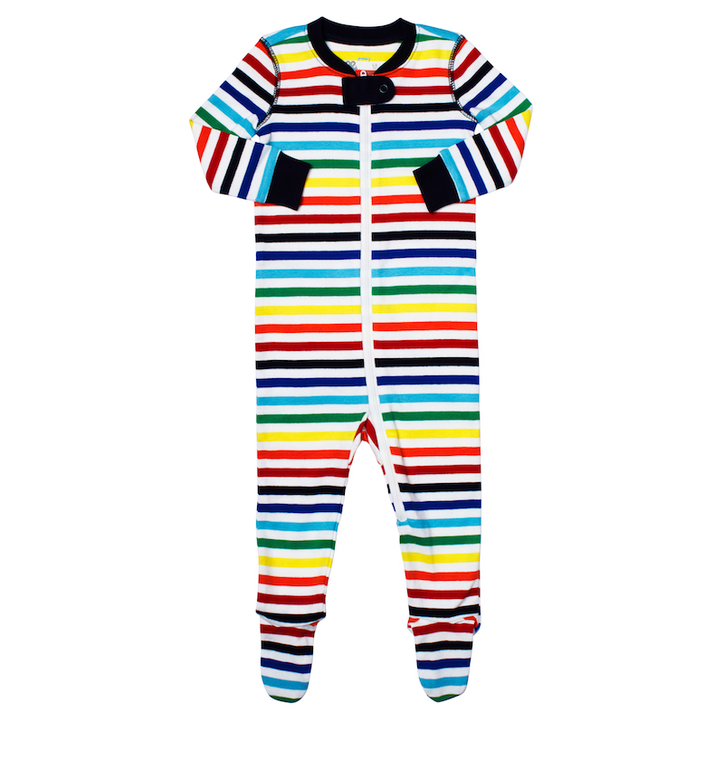 Kids' rainbow clothing: Sleeper by Primary