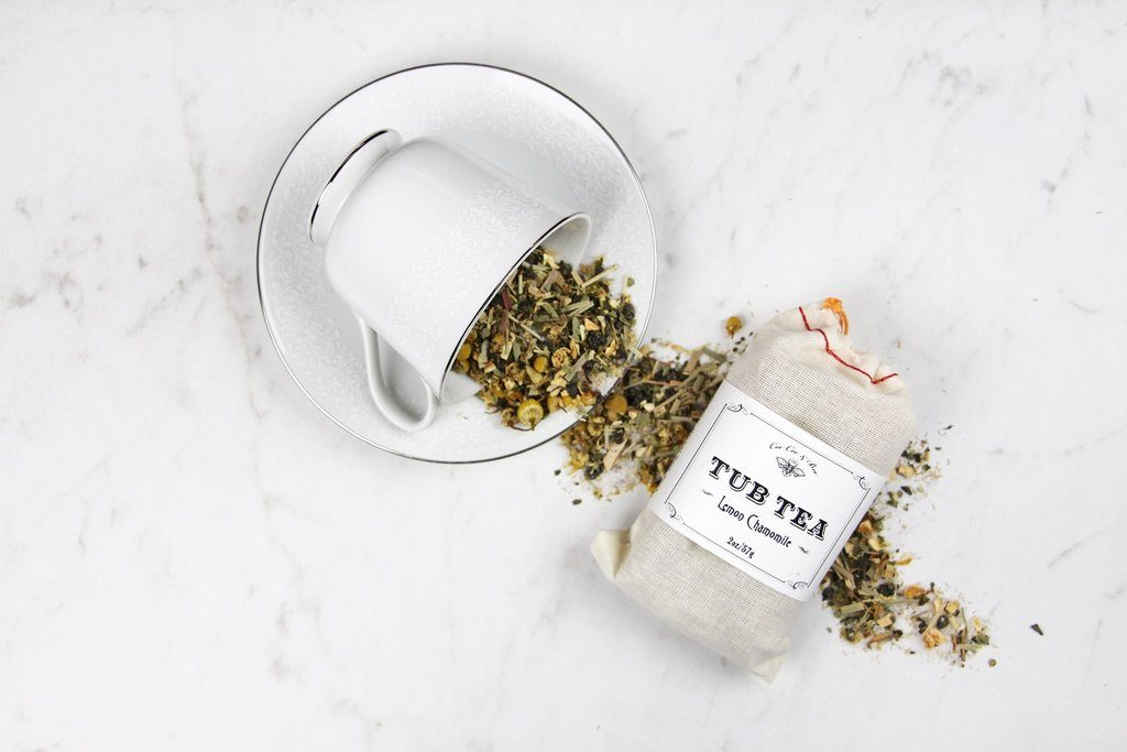 Lemon Chamomile Tub Tea duo of sachets | Affordable Mother's Day gifts under $15