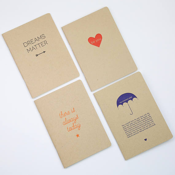 Letterpress notebooks from GoodsthatMatter help support low-income youth through the I Have a Dream Foundation | Mother's Day gifts that give back